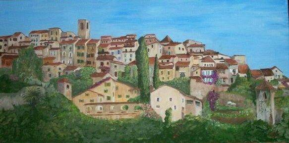 BIOT VILLAGE - Painting ©2008 by Babou -