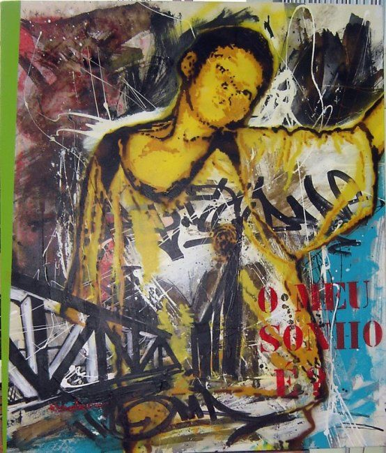 """serie""""At Society"""" - Painting,  85x100 cm ©2008 by Babu -"""