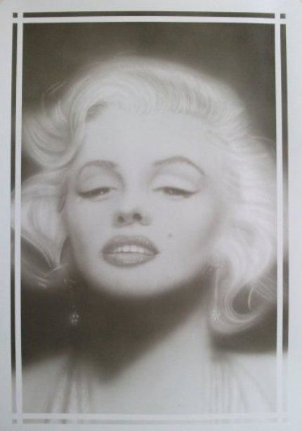 Marilyn - Painting,  19.7x13.8 in, ©2013 by Bad65 Airbrush -                                                              airbrush portrait Marilyn Monroe