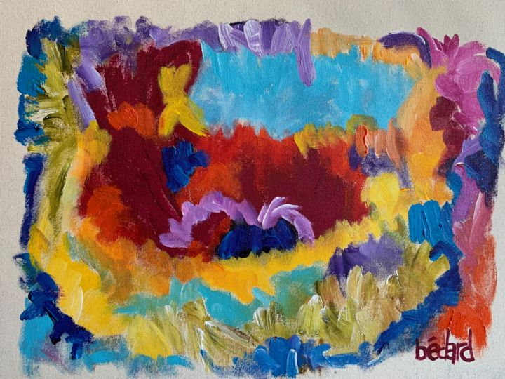 """Painting titled """"""""RED RIVER"""""""" by Bailey Bedard, Original Art, Acrylic"""