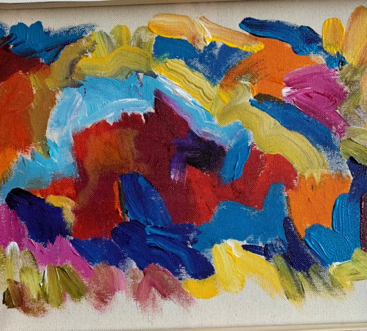 """Painting titled """"""""BLUE AND YOU"""""""" by Bailey Bedard, Original Art, Acrylic"""