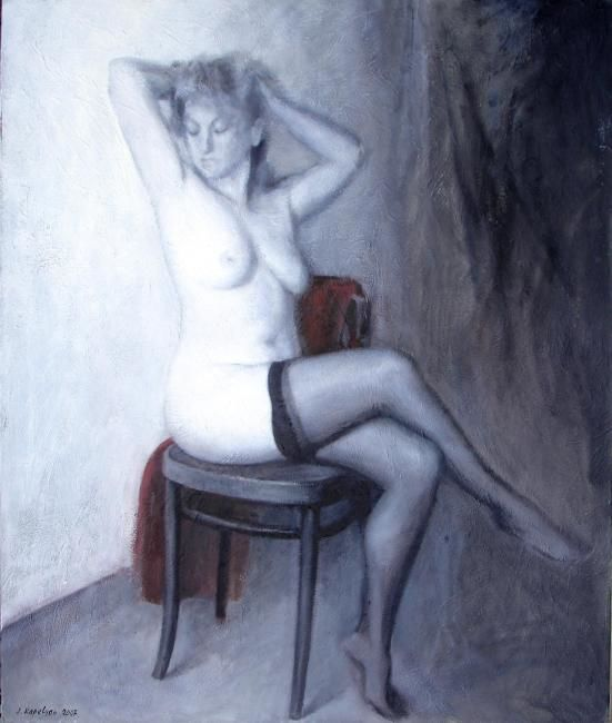 Painting,  100 x 120 cm ©2007 by Kapelyan -  Painting, Nudes in Art