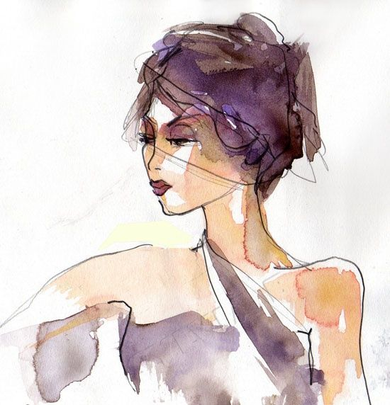 Illustration de mode - Élégance - Digital Arts ©2012 by Sylvia Baldeva -                                                            Illustration, Paper, Fashion, illustration de mode, illustration mode, fashion illustration, beauté, beauty, woman, elegance, fashion, feminin, feminity, sylvia baldeva, art