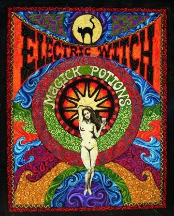 Electric Witch Magick Potions Painting by Emily Balivet