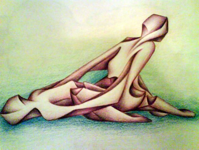 """Drawing titled """"amore"""" by Ban*S, Original Art, Pastel"""