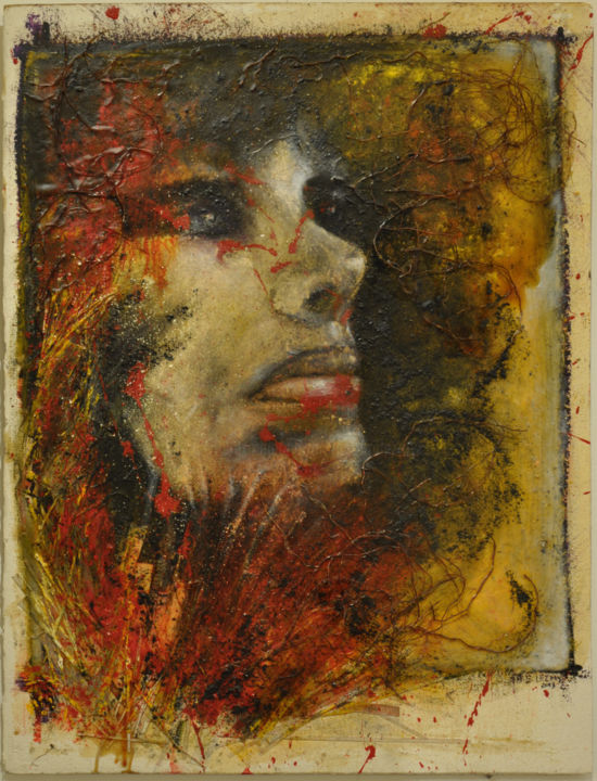 Painting, oil, abstract, artwork by Barbara E.Lezmy