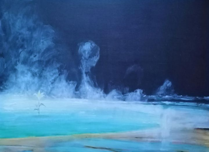 """Painting titled """"New live"""" by Barbara Lis, Original Art, Acrylic"""