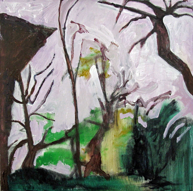 Some Other Landscape 3 - Painting,  23.6x23.6 in, ©2015 by Barrie Walker -                                                                                                                                                                                                                                                                      Abstract, abstract-570, Landscape, paysage abstrait, acrylique
