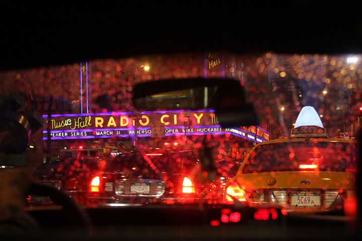 """Photography titled """"Cab Ride in the Rain"""" by Barry Greff, Original Art,"""