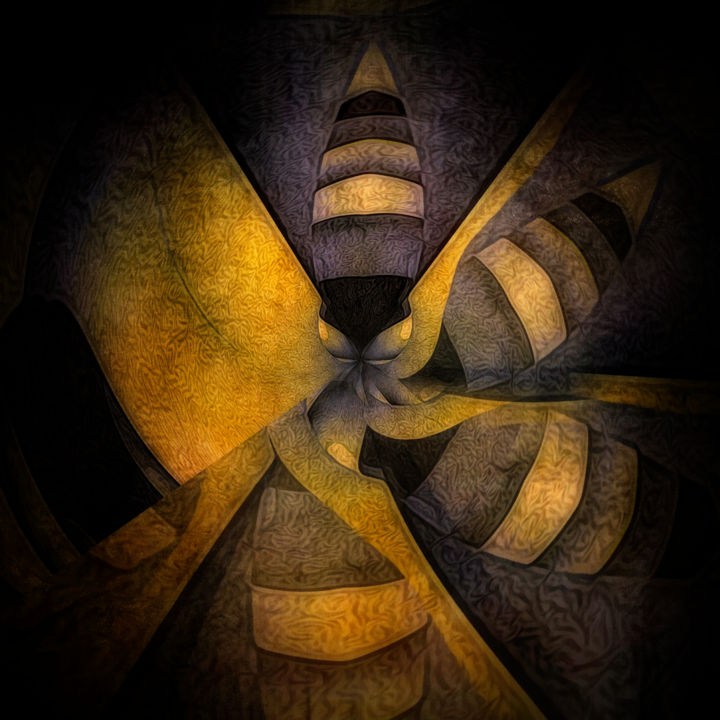 escape the hive - Painting ©2018 by CurvilinearArt -