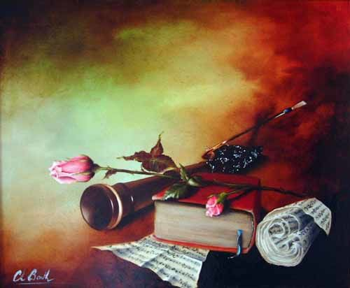 le Basson et la rose - Painting ©2002 by Christian Barth -
