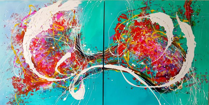 """Painting titled """"DEFINED  MOMENT wit…"""" by Basia Kilian, Original Art, Acrylic"""