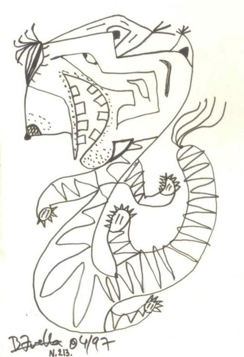 Tigre - Drawing ©1997 by Laurent Bavella -