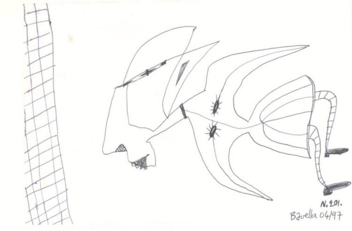 La mort ? - Drawing ©1997 by Laurent Bavella -