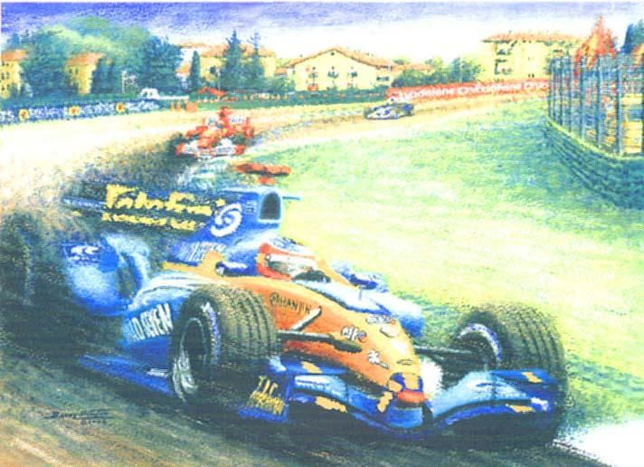 'Fernando Fantastico' - Painting,  20x27 in, ©2004 by Barry Hunter -