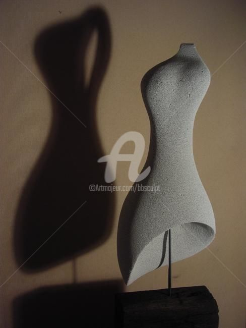 Robe - Sculpture,  80x16x26 cm ©2008 by Bernard Baltassat -            femme, corps, sculpture, robe