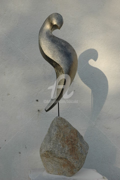 Coco-Lumbago - Sculpture,  68x19x23 cm ©2012 by Bernard Baltassat -                                            Other, Birds, oiseau, enroulement, hélice