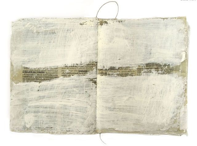Book 90, Certain difficulties with reading a text - Collages, ©2008 by Beata Wehr -