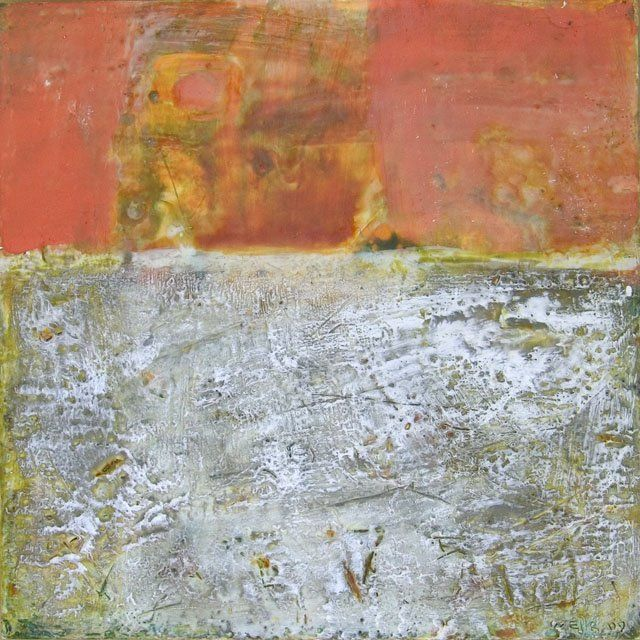 E 3 - Painting,  12x12x0.4 in, ©2009 by Beata Wehr -                                                                                                                          Abstract, abstract-570