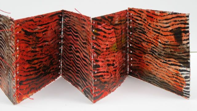 Red book - Collages,  6x8x0.4 in, ©2010 by Beata Wehr -