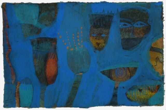 """Painting titled """"Blue 1"""" by Beata Wehr, Original Art,"""