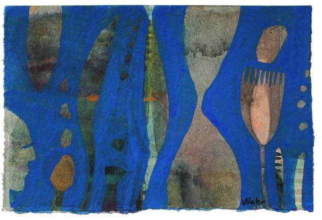 """Painting titled """"Blue 2"""" by Beata Wehr, Original Art,"""