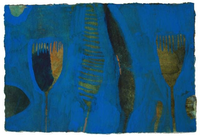 """Painting titled """"Blue 3"""" by Beata Wehr, Original Art,"""