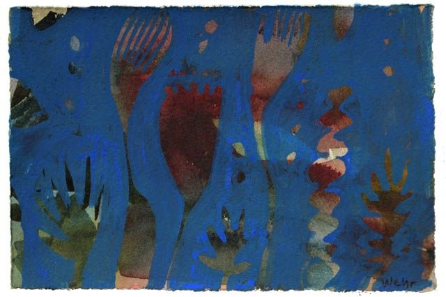 """Painting titled """"Blue 5"""" by Beata Wehr, Original Art,"""