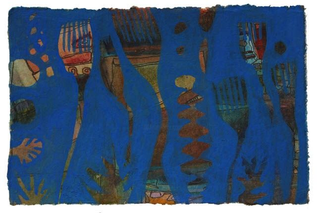 Blue 8 - Painting, ©2011 by Beata Wehr -