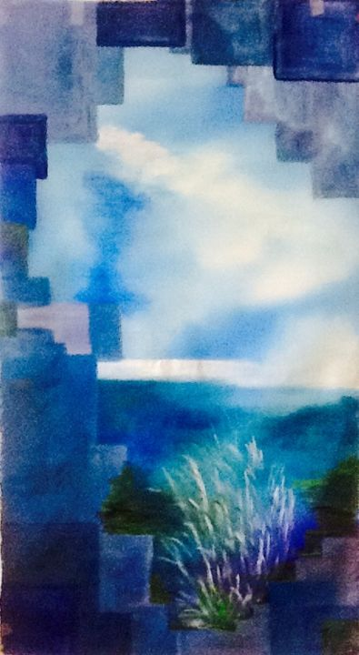Painting, acrylic, abstract, artwork by Béatrice Marty