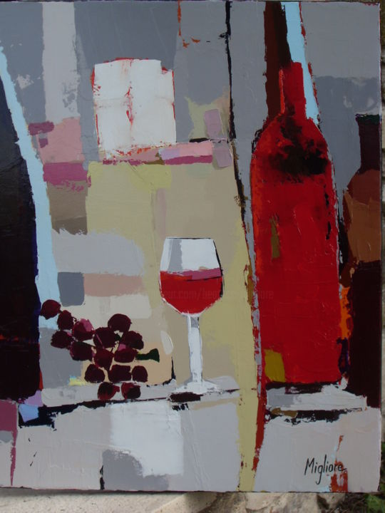 Sans titre - Painting,  25.6x21.3 in, ©2015 by Migliore -