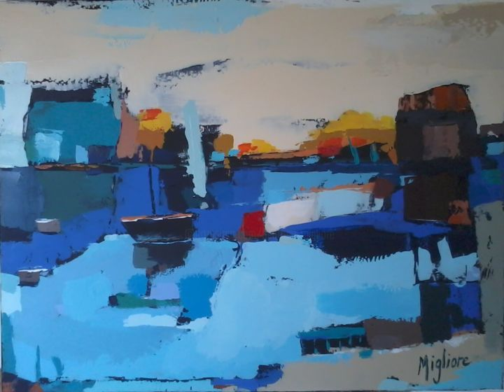 Vision bleue - Painting, ©2015 by Migliore -