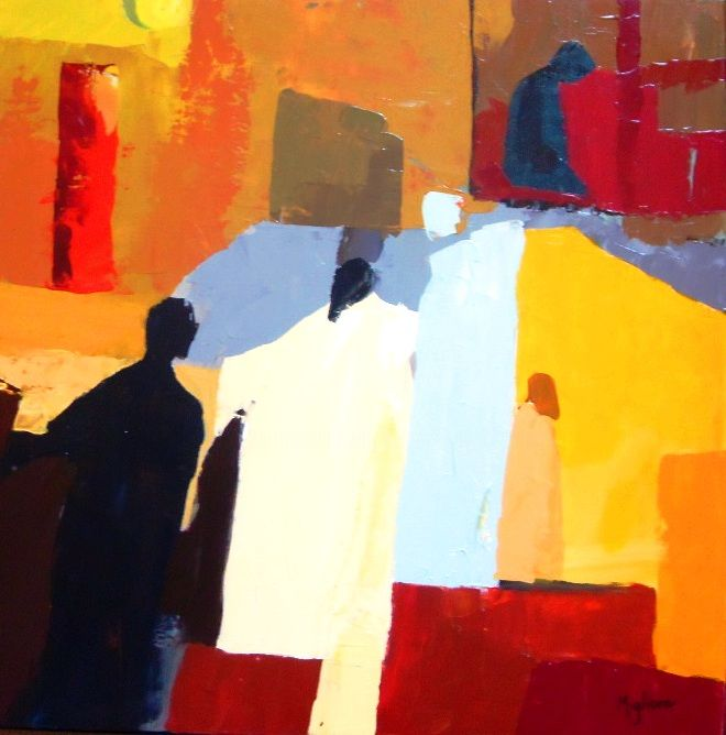 Carré2 - Painting, ©2015 by Migliore -