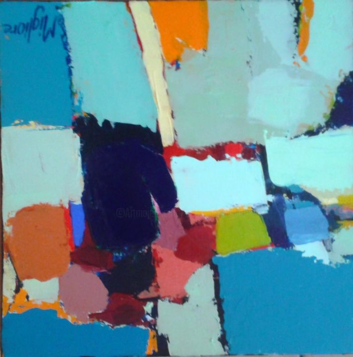 Une histoire - Painting,  20x20 cm ©2015 by Migliore -