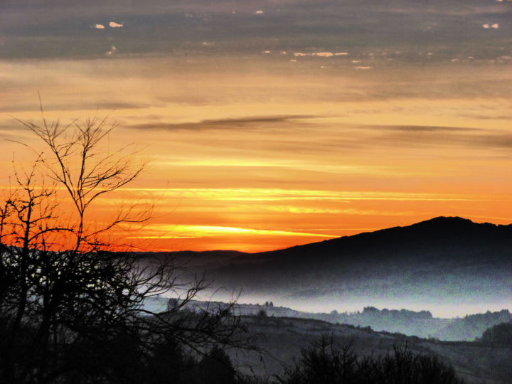 Matin d'hiver - Photography, ©2015 by Béatrice Marie PENAUD -                                                                                                                                                                                                                                                  Landscape, aurore matin, winter, Hiver, Dawn