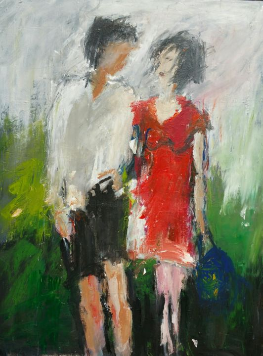 Ballade amoureuse - Painting, ©2015 by Beatrice Bossard -