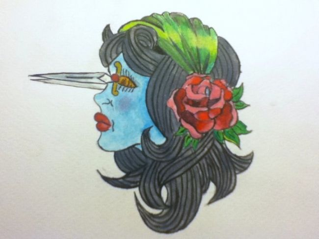 """Painting titled """"First Lady"""" by Becca, Original Art,"""