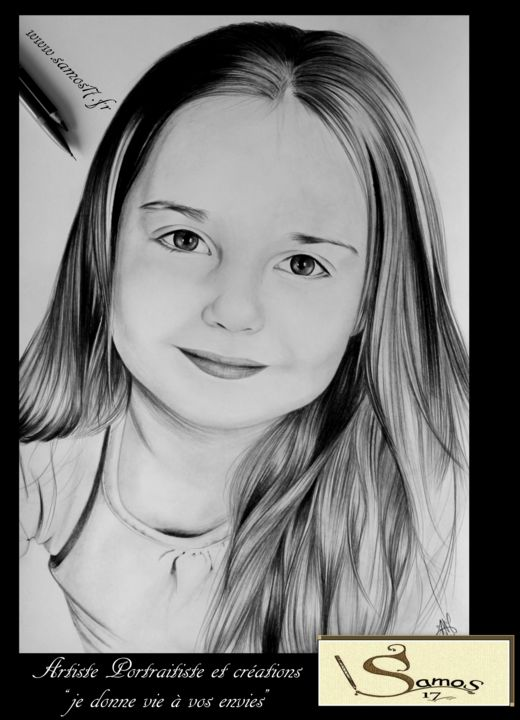 portrait dessin enfant samos17 portraitiste. Black Bedroom Furniture Sets. Home Design Ideas