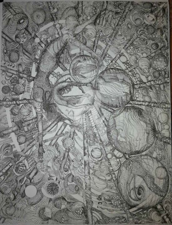 SOLAR SYSTEM © - Drawing, ©1999 by Bega -