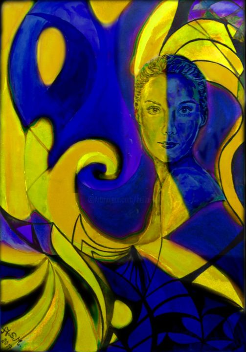 The Ambicolor-Woman - Painting ©2017 by Andrea Schimböck-Marock -