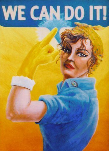 """Painting titled """"Joannie the Riveting"""" by Cyndi Bellerose-Mcafee, Original Art, Oil"""