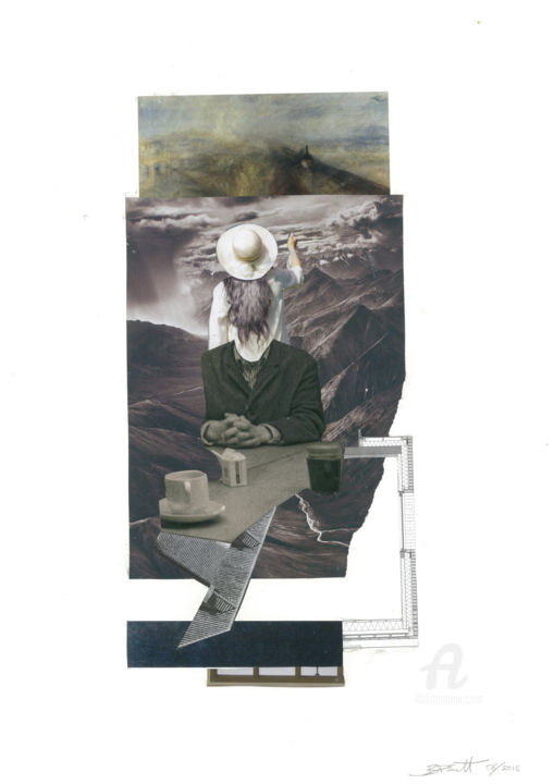"""Collages titled """"A stranger in a str…"""" by benedictdoug, Original Art, Collages"""
