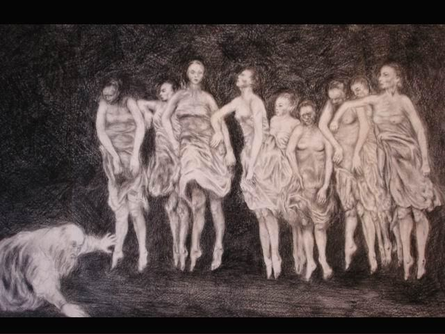 """Drawing titled """"the tempatation of…"""" by Bene Octavian, Original Art,"""