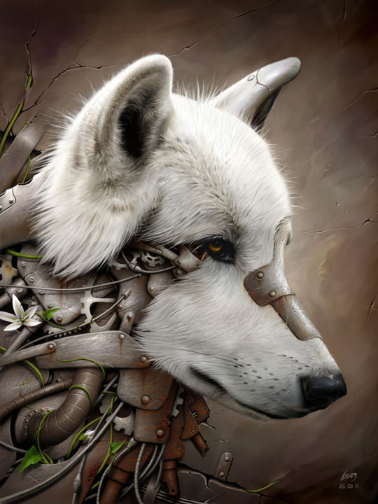 Wild 1 - The Wolf - ©  loup wolf Œuvres-d'art en ligne