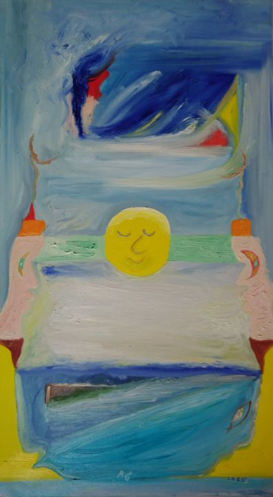 """Painting titled """"Landscape with a Sl…"""" by Bennu, Original Art, Oil"""