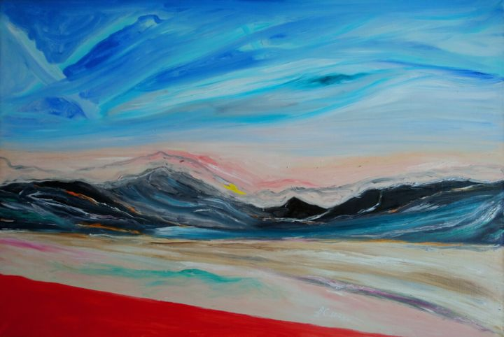 """Painting titled """"The landscape of so…"""" by Bennu, Original Art, Oil"""