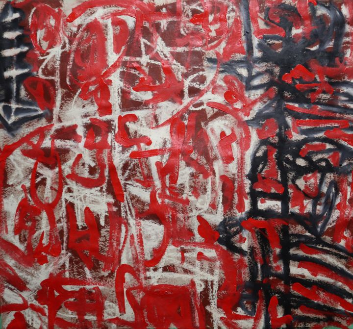 """Painting titled """"Demain les flammes"""" by Bent, Original Art, Acrylic"""