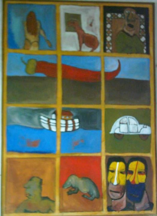 Painting ©2004 by mohamed Benyaich -  Painting