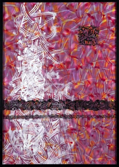 Graffitagz stabilisés - Painting,  39.4x27.6 in, ©2012 by Béopé -