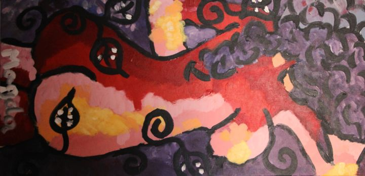 De Dos - Painting,  0.8x15.8x31.5 in ©2015 by Magda -